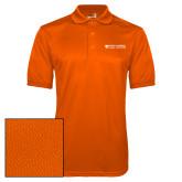 Orange Dry Mesh Polo-Primary Logo Flat