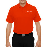 Under Armour Orange Performance Polo-Primary Logo Flat
