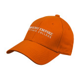 Orange Heavyweight Twill Pro Style Hat-Primary Logo Flat