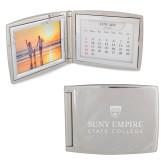 Silver Bifold Frame w/Calendar-Primary Logo  Engraved
