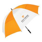 62 Inch Orange/White Vented Umbrella-Primary Logo