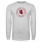 White Long Sleeve T Shirt-Knights Seal