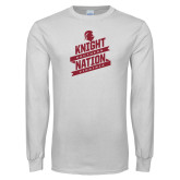 White Long Sleeve T Shirt-Knight Nation