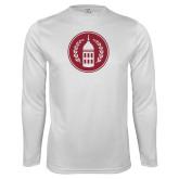 Performance White Longsleeve Shirt-Tower Logo