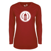 Ladies Syntrel Performance Cardinal Longsleeve Shirt-Tower Logo