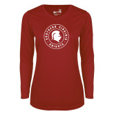Ladies Syntrel Performance Cardinal Longsleeve Shirt-Knights Seal