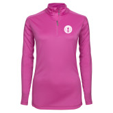 Ladies Syntrel Interlock Raspberry 1/4 Zip-Tower Logo