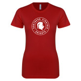 Next Level Ladies SoftStyle Junior Fitted Cardinal Tee-Knights Seal
