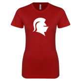 Next Level Ladies SoftStyle Junior Fitted Cardinal Tee-Knight Head