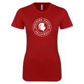 Next Level Ladies SoftStyle Junior Fitted Cardinal Tee-Volleyball