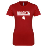 Next Level Ladies SoftStyle Junior Fitted Cardinal Tee-Knights Volleyball