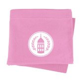 Pink Sweatshirt Blanket-Tower Logo