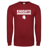 Cardinal Long Sleeve T Shirt-Knights Lacrosse