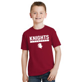 Youth Cardinal T Shirt-Knights Lacrosse