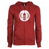 ENZA Ladies Cardinal Fleece Full Zip Hoodie-Tower Logo