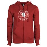ENZA Ladies Cardinal Fleece Full Zip Hoodie-Knights Seal