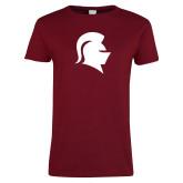 Ladies Cardinal T Shirt-Knight Head