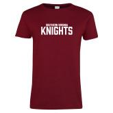 Ladies Cardinal T Shirt-Southern Virginia Knights