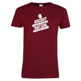 Ladies Cardinal T Shirt-Knight Nation
