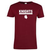 Ladies Cardinal T Shirt-Knights Football