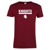 Ladies Cardinal T Shirt-Knights Volleyball