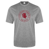 Performance Grey Heather Contender Tee-Knights Seal