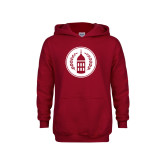 Youth Cardinal Fleece Hoodie-Tower Logo