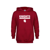 Youth Cardinal Fleece Hoodie-Knights Lacrosse