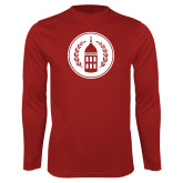 Performance Cardinal Longsleeve Shirt-Tower Logo