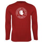 Performance Cardinal Longsleeve Shirt-Knights Seal