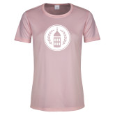 Ladies Performance Light Pink Tee-Tower Logo