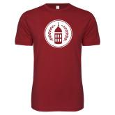 Next Level SoftStyle Cardinal T Shirt-Tower Logo