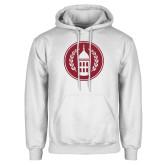 White Fleece Hoodie-Tower Logo