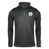 Russell Charcoal Heather 1/4 Zip-Tower Logo