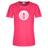 Ladies Performance Hot Pink Tee-Tower Logo