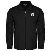 Full Zip Black Wind Jacket-Tower Logo