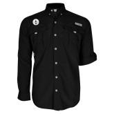 Columbia Bahama II Black Long Sleeve Shirt-Tower Logo