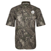 Camo Short Sleeve Performance Fishing Shirt-Tower Logo