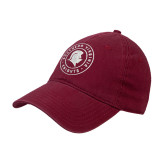 Cardinal Twill Unstructured Low Profile Hat-Knights Seal