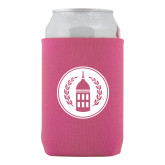 Neoprene Hot Pink Can Holder-Tower Logo