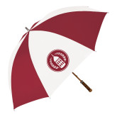 62 Inch Cardinal/White Umbrella-Tower Logo