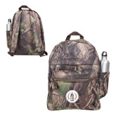 Heritage Supply Camo Computer Backpack-Tower Logo
