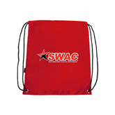 Red Drawstring Backpack-SWAC