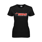 Ladies Black T Shirt-SWAC