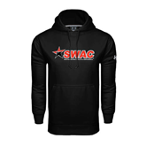 Under Armour Black Performance Sweats Team Hood-SWAC
