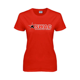 Ladies Red T Shirt-SWAC