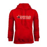 Red Fleece Hood-SWAC
