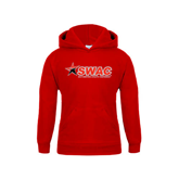Youth Red Fleece Hoodie-SWAC