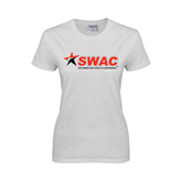 Ladies White T Shirt-SWAC