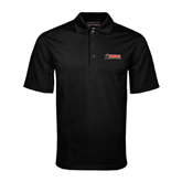 Black Mini Stripe Polo-SWAC